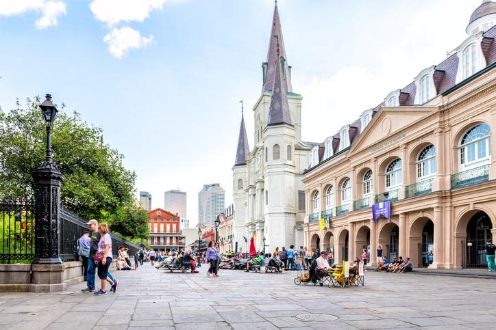 Jackson Square in Louisiana